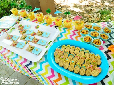 Easy Teddy Bear Beach Party! KitchenFunWithMy3Sons.com
