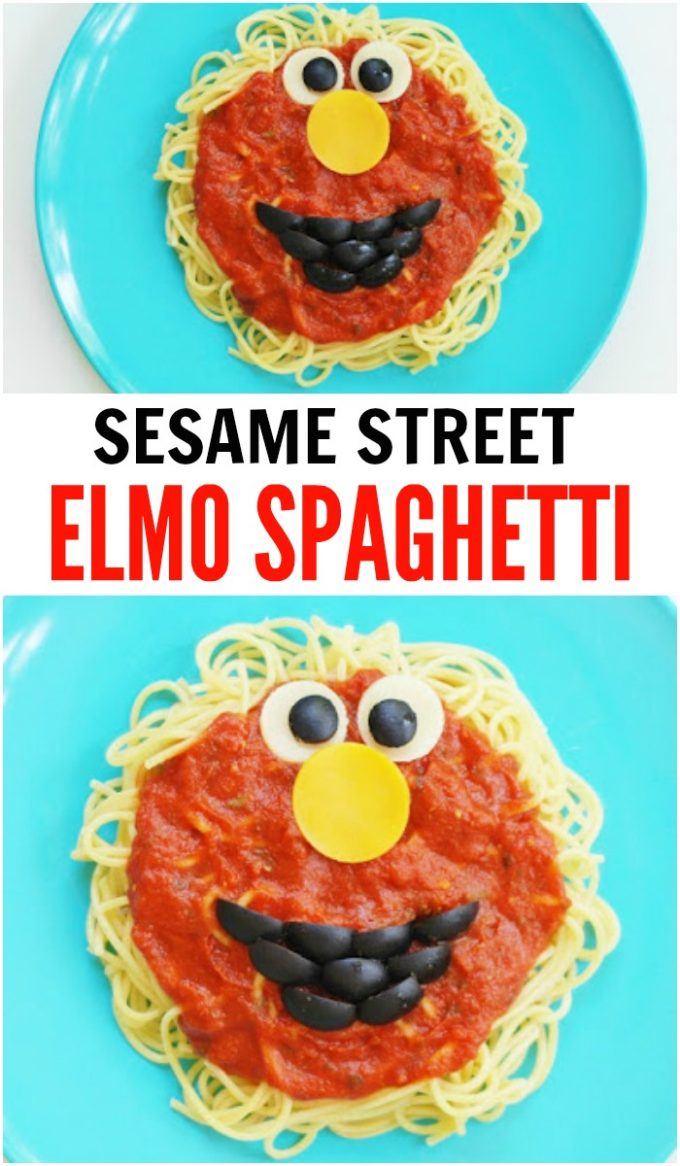 Elmo Spaghetti Dinner for your little Sesame Street Fans!