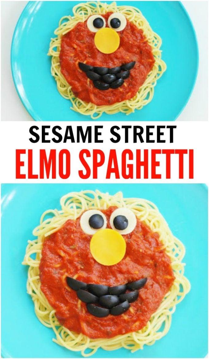 Elmo Spaghetti Dinner for your little Sesame Street Fans!