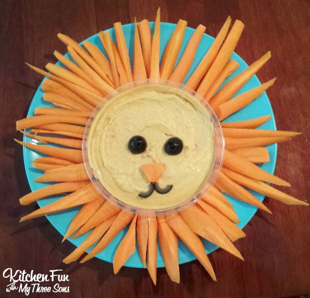 easy lion hummus snack for kids kitchen fun with my 3 sons