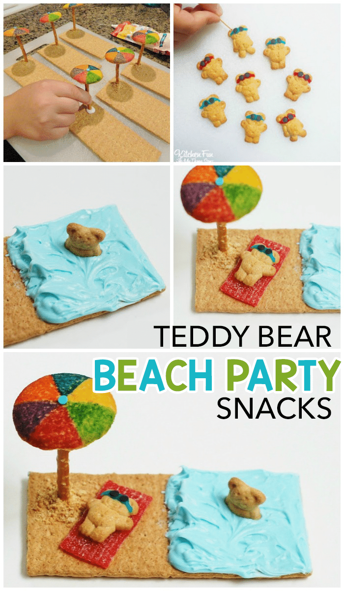 Teddy Bear Graham Cracker Beach Snacks