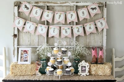 Pink & Brown Cowgirl Party