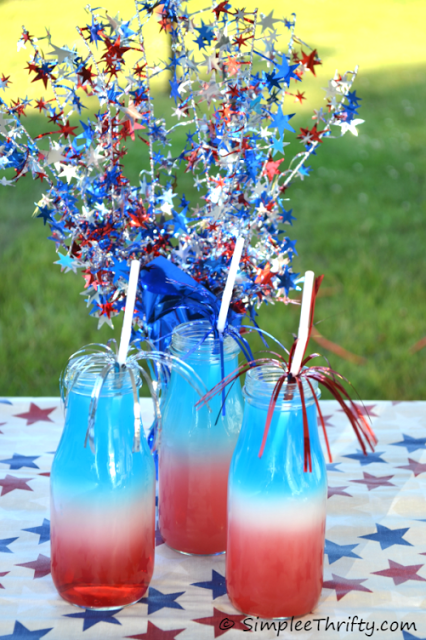 Patriotic Red, White, & Blue Layered Drink