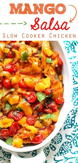 Mango Salsa Slow Cooker Chicken