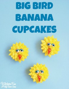 Big Bird Banana Cupcakes including a Cupcakery Giveaway!