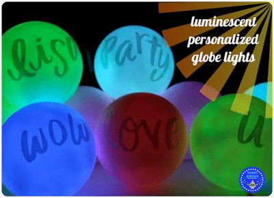 DIY Luminescent Personalized Globe Lights