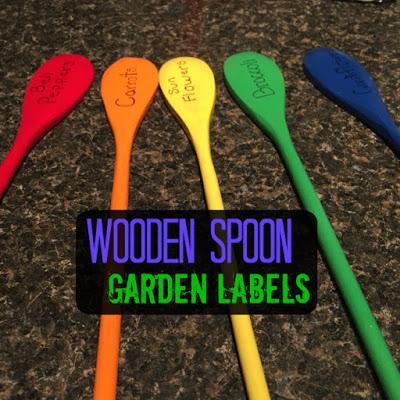 Wooden Spoon Garden Labels