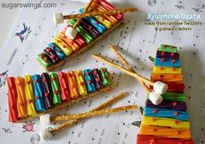 Rainbow Twizzler Xylophone Treats