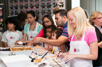 LG Electronics New York trip where we instructed kids and adults how to create fun Back to School Bento Lunch