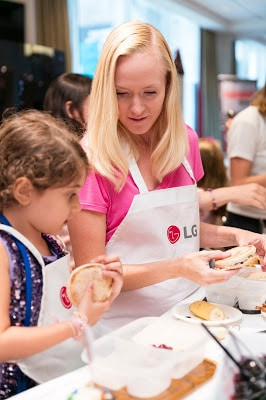 we teamed up with LG Electronics for the Kidzvuz event