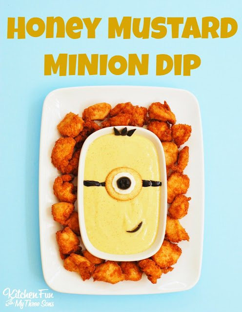 Honey Mustard MINION Dip from KitchenFunWithMy3Sons.com