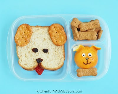 Puppy Dog Bento Lunch for Back to School from KitchenFunWithMy3Sons.com