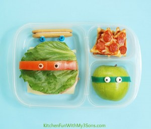 Teenage Mutant Ninja Turtle Bento Lunch with LG Electronics! #LGJrChef