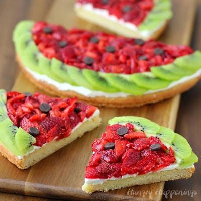 Watermelon Fruit Cookie Pizza
