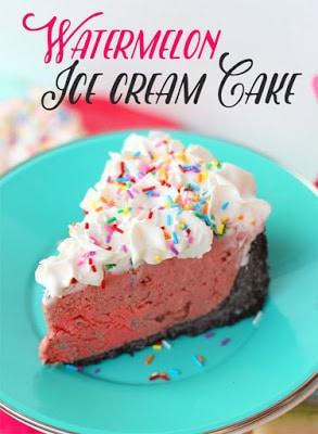 Watermelon Ice Cream Cake