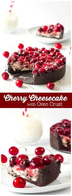 Cherry Cheesecake with Oreo Crust
