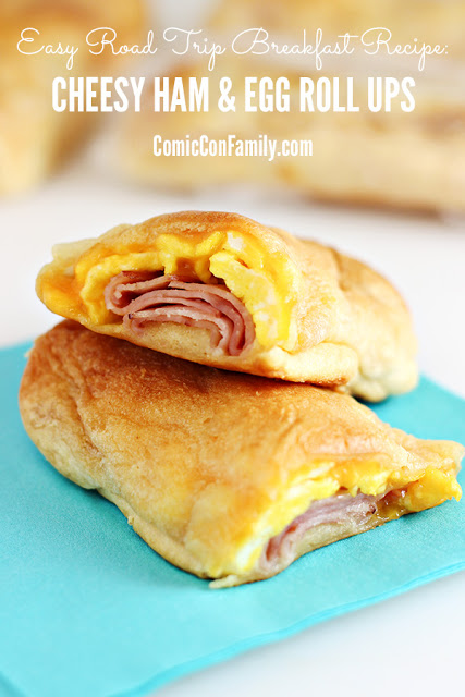 Easy Cheesy Ham & Egg Roll Ups