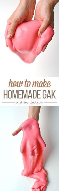 Homemade Gak Recipe