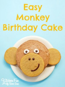 Easy Monkey Birthday Cake