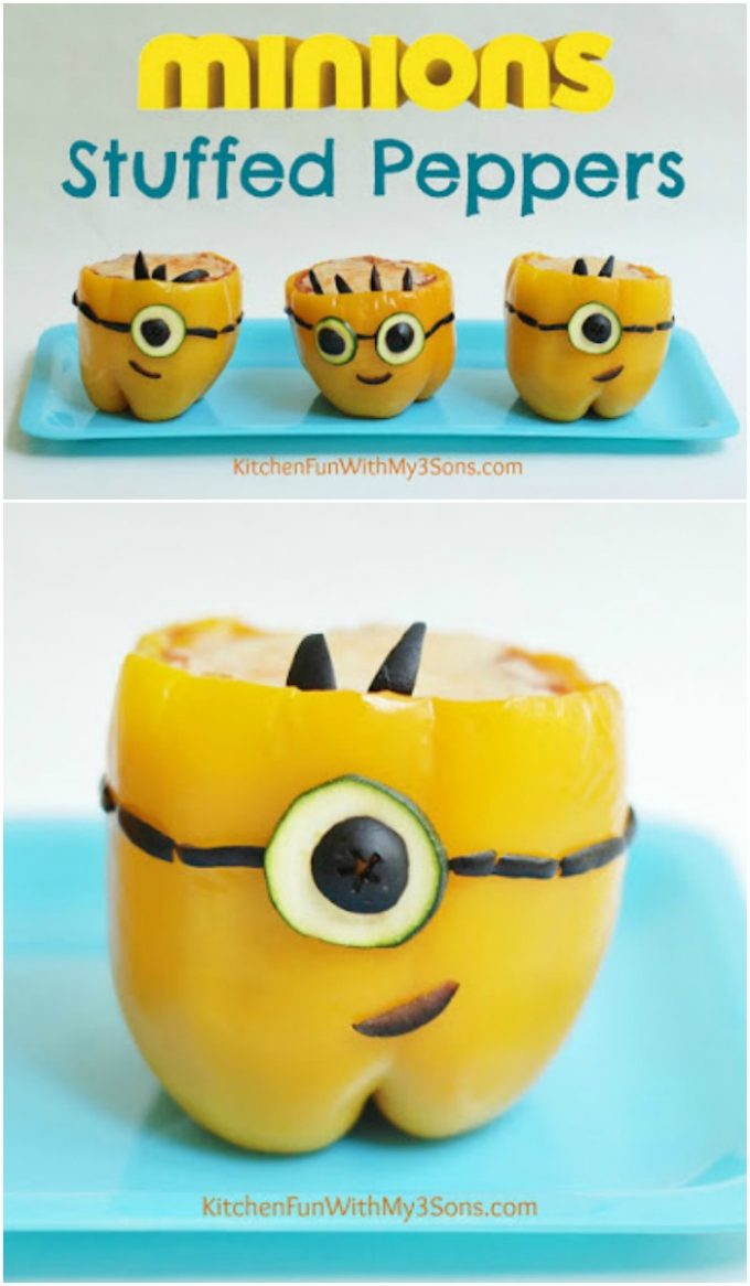 Minions Stuffed Peppers