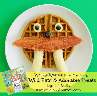 "Walrus Waffles from the new book ""Wild Eats & Adorable Treats"""