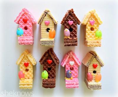 Wafer Birdhouses