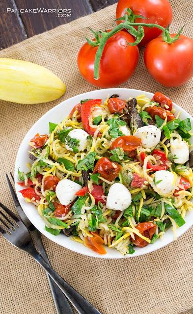 Margherita Zucchini Pasta Salad