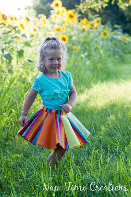 Rainbow Circle Skirt Tutorial