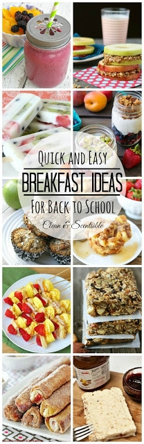 Quick & Easy Breakfast Ideas for Back to School