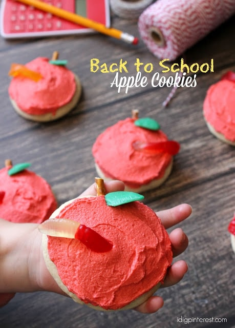 Back to School Apple Sugar Cookies