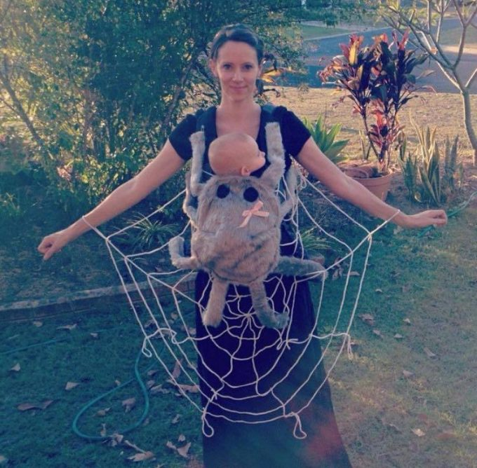 Spider Baby and Mommy Costume