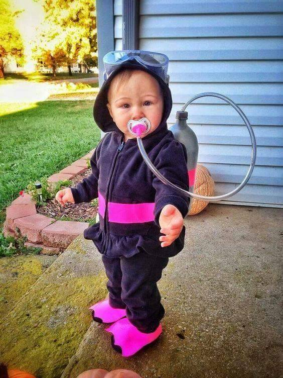 Toddler Scuba Diver Costume for Halloween...so cute!