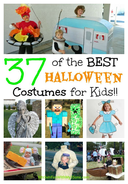 37 of the BEST DIY Homemade Halloween Costumes from Babies & Kids from KitchenFunWithMy3Sons.com