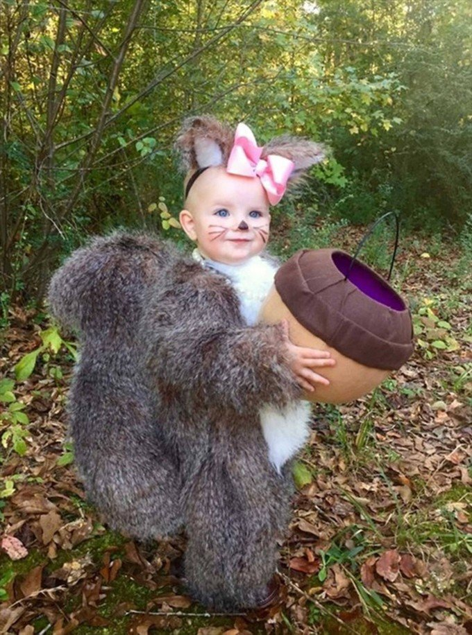 Squirrel Costume...these are the BEST Homemade Halloween Costumes for Babies & Kids