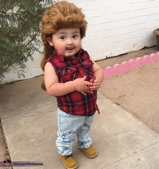 Joe Dirt Toddler Costume Costume...these are the BEST Homemade Halloween Costume Ideas for Babies & Kids!