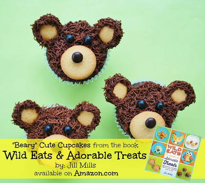 "Beary Cute Cupcakes from the brand new book ""Wild Eats & Adorable Treats""...40 Animal-inspired meals & snacks for Kids! Purchase today on Amazon.com!"