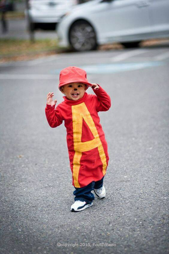 Alvin & the Chipmunks Costume....these are the BEST Homemade Halloween Costumes for Babies & Kids!