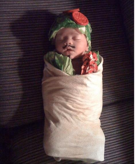 Burrito Baby Costume