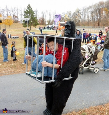 Gorilla Carrying a Kid