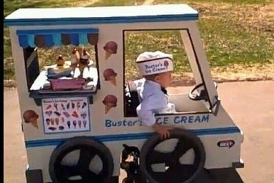 Ice Cream Man Kid Costume