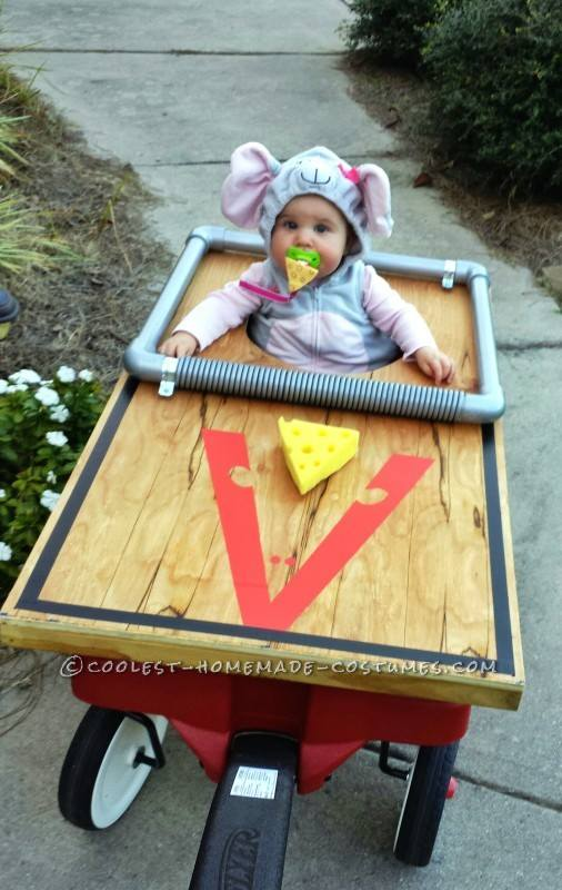 DIY Mousetrap Baby Costume...these are the BEST Homemade Halloween Costume Ideas for