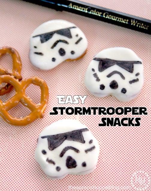 Easy Storm Trooper Pretzel Snacks
