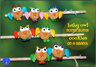 Baby Owl Nutter Butter Cookies