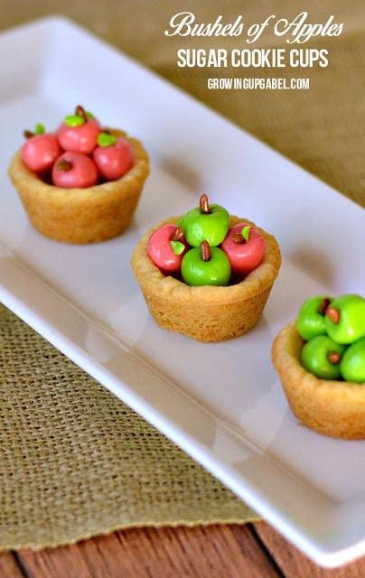 Bushels of Apples Sugar Cookie Cups