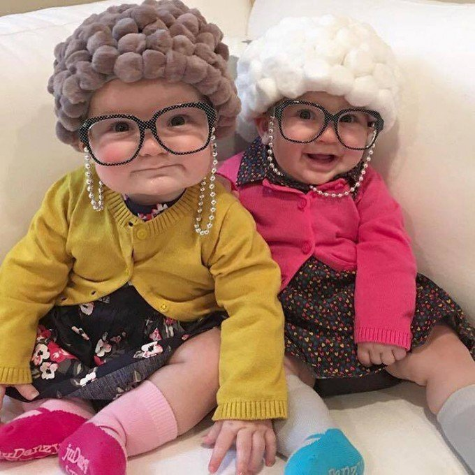 Old Lady Halloween Costume for a Baby....these are the BEST DIY Kids Costumes for Halloween!