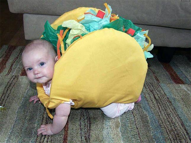 Taco Baby Costume...these are the BEST Homemade Halloween Costume Ideas for Kids!