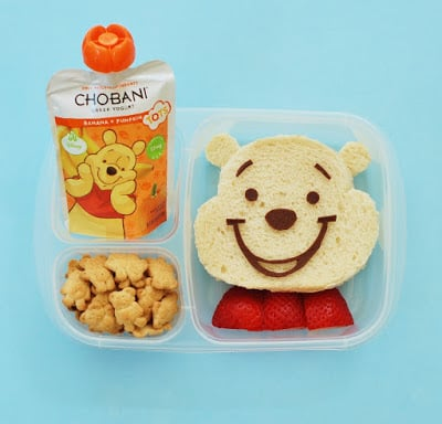 Winnie the Pooh Bento Lunch with Chobani!