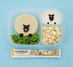 Sheep Bento Lunch with Chobani!