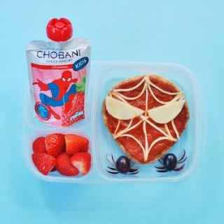 Spider-Man Bento Lunch with Chobani!