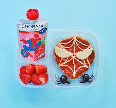Spider-Man Bento Lunch with Chobani!